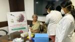 రమ్యకు థ్యాంక్స్: కోవిడ్ వ్యాక్సిన్ తొలి డోస్ అనంతరం నిర్మలా సీతారామన్