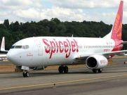జెట్ ఎయిర్వేస్ బోయింగ్ 737 విమానానికి SpiceJet రంగులు
