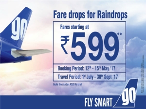 Fares Starting From 599 Go Air This Summer