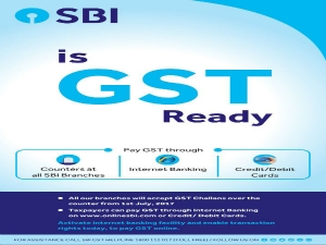 In Sbi Branches You Can Physically Pay Gst Through Cash Or C