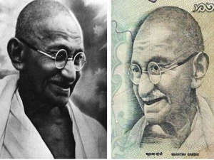 Story Behind Photo Gandhi Currency