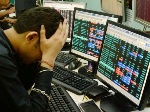 Sensex Off Lifetime High Plunges 383 Pts As Exit Polls Euphhria Fades
