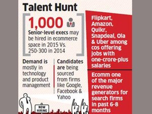 Flipkart Amazon Snapdeal Other E Commerce Companies May Offer 500 Jobs Of Rs 1 Crore
