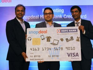 Snapdeal Hdfc Bank Launch Co Branded E Commerce Credit Card