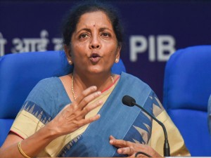 Gst Rate Cut Not In My Hands Says Sitharaman