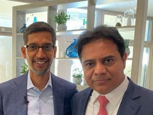 Ktr Meets Google Ceo Sundar Pichai At Wef