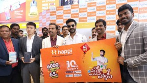Happi Mobiles 60th Store Launch By Mega Power Star Ram Charan