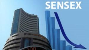 Sensex Plunges 350 Points Rupee Slips Below 74 Mark Against Dollar
